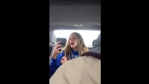 Daughter Has A Hilarious Selfie Session Without Realizing That Dad Is Filming Everything