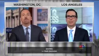 NBC's Chuck Todd, perturbed over Trump's 'sleepy SOB' remark, goes at Treasury Sec. Mnuchin - Video