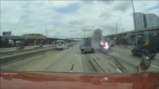 Houston Highway Accident - Video