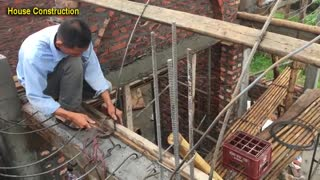 Amazing Construction - Making Iron For Pouring Concrete Dome House