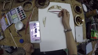 Coffee Artist Paints Star Wars R2D2 Out Of Espresso - Video