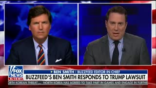 Tucker Carlson Rips Into BuzzFeed Editor: You Did It 'Because It Was Trump' - Video