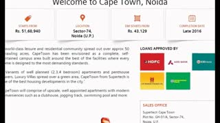 Supertech Capetown Luxury Apartments - Video