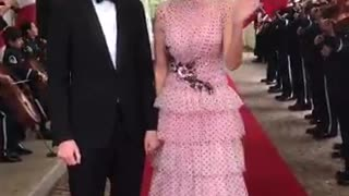 Ivanka Trump and Jared Kushner arriving at State Dinner for French President Macron
