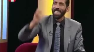 Afghans making fun of Iran's police in Live TV- Funny - Video