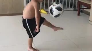 Talented youngest Football player in Dubai  - Video
