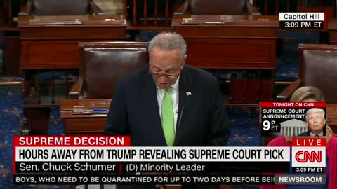 Schumer whines that Trump did not consult with Dems for SCOTUS pick