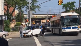 Hit and run, Brooklyn NY 6-3-15 - Video