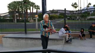Old Man Pulls Off Incredibly Bold Trick With His Skateboard