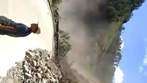 Terrifying Moment Of A Near Death Landslide Experience