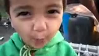 Very Sweet Baby Showing his anger on Camera Very Lovely  - Video