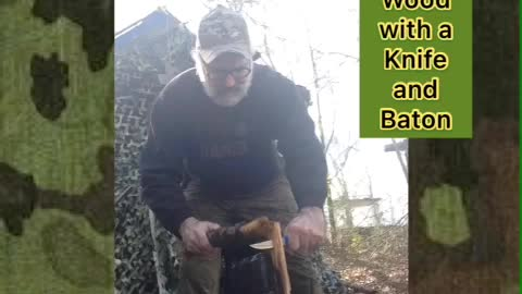 Splitting Wood with Your Knife and a Wooden Baton