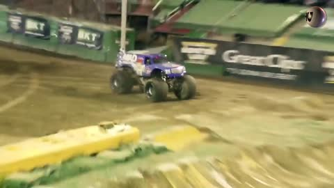AMAZING! The world's first monster truck front flip