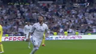 VIDEO: Sergio Ramos great header goal vs Villareal - Video