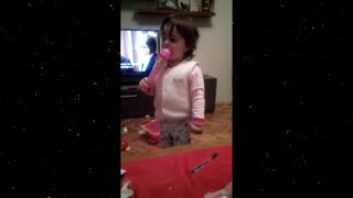 2 years old singing