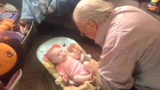 Baby Copies Grandpa's Moves Like A Pro