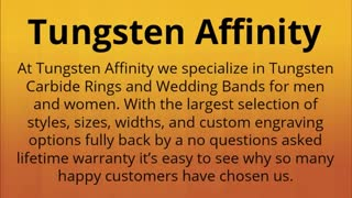 tungsten rings - Video