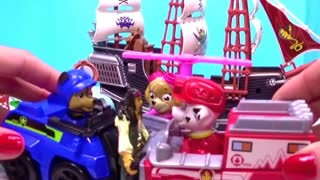 Paw Patrol Cartoon toys Rescue American Girl Doll Isabelle from Pirates Attack - Video