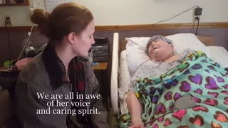 Young Nurse Sings A Final Hymn To Her Dying Patient  - Video