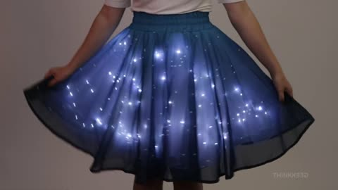 "Light up the room with this glowing ""Twinkling Star"" skirt!"