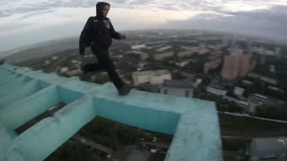 Extreme first-person BASE jumping footage - Video