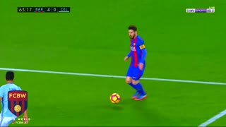 El segundo gol de Messi  vs Celta Vigo - Video