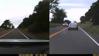 Impatient Driver Ends Up In The Ditch - Video
