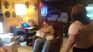 Stepdad receives heartwarming surprise for Father's Day - Video