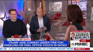 MSNBC Guest Jokes About Kellyanne Being On Her Knees In Oval Office - Video