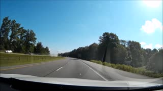 Car Spin Captured on Dashcam - Video