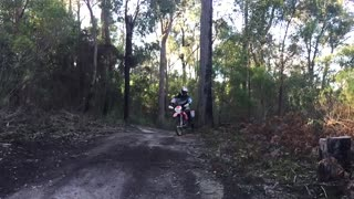 Dirt Bike Wheelie Around the Gumtree - Video