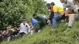 Cheese Rolling Competition - Video