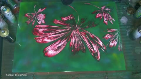 Time Lapse Video Of An Incredible Spray Paint Flower Art