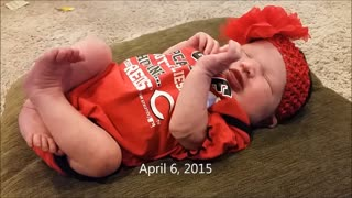 Parents compile one second clip per day of newborn baby - Video