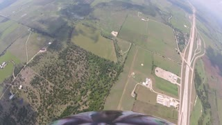Skydiver Loses Shoe and Recovers During Skydive - Video