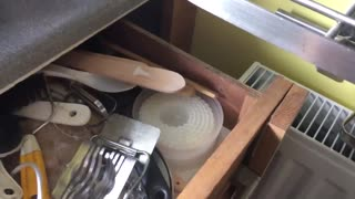 Home owners realize they can't open drawer after new radiator fitted