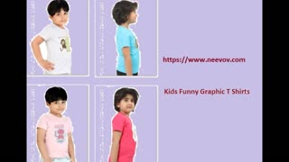 Kids Funny Graphic Black Colour T Shirts Online - Video