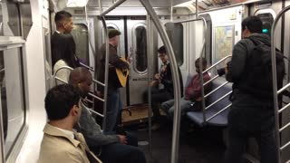 Random subway jam turns into marriage proposal! - Video