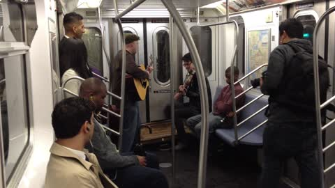 Random subway jam turns into marriage proposal!