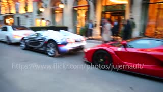 Bugatti Veyron L'Or Blanc Hits A Ferrari - Video