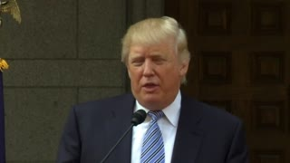 Donald Trump breaks ground on new DC hotel - Video