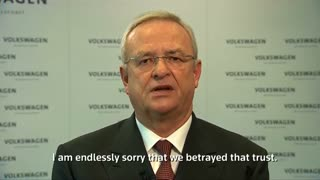 Volkswagen CEO apologizes for diesel emission scandal - Video
