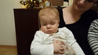Adorable Baby Fights Sleep | Can't Stay Awake!  - Video