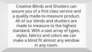Creative Blinds and Shutters - Video