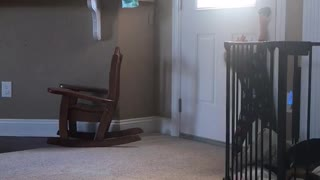 Baby Landon wants to go Outside  - Video