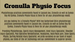 cronulla physio - Video