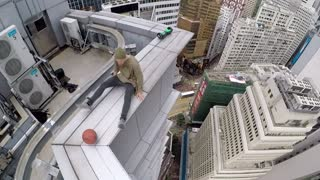 Risky High Rise Basketball Stunts - Video