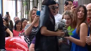 Lady Gaga meets fans in Perth hotel lobby - Video