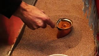 The magnificence of Turkish coffee making