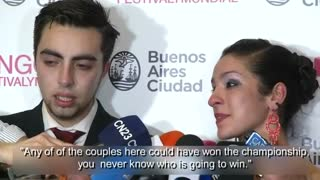 Argentines dance into first place at Tango competition - Video